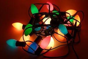 Christmas Lights Cords Tangled